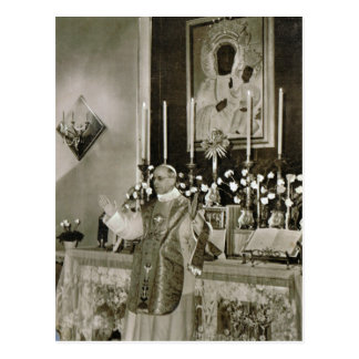 Pope Pius XII, saying Mass Postcard