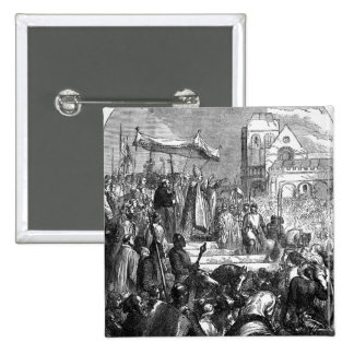 Pope Urban II  Preaching the First Crusade 2 Inch Square Button