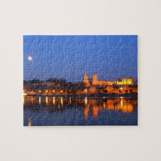 Pope's Palace in Avignon and the Rhone river at Jigsaw Puzzle
