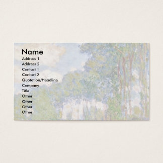 Poplars On The Epte By Claude Monet Business Card