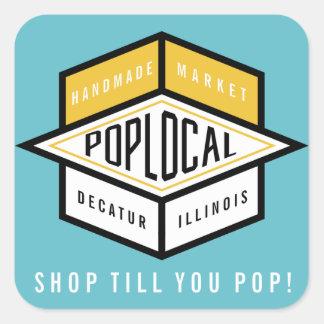Poplocal Square Sticker