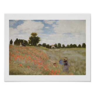 POPPIE FIELD by CLAUDE MONET Poster