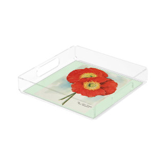 Poppies, 1940 style serving tray