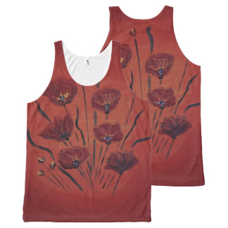 poppies All-Over-Print tank top