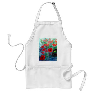 Poppies and a Clay Pot Standard Apron