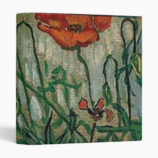 Poppies and Butterflies (F748) Van Gogh Fine Art Vinyl Binder