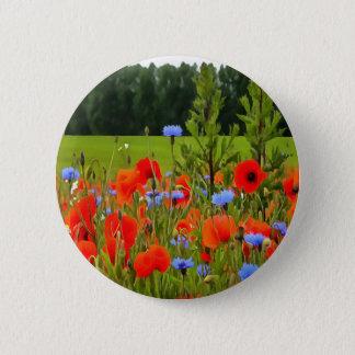 Poppies And Cornflowers 2 Inch Round Button