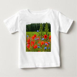 Poppies And Cornflowers Baby T-Shirt