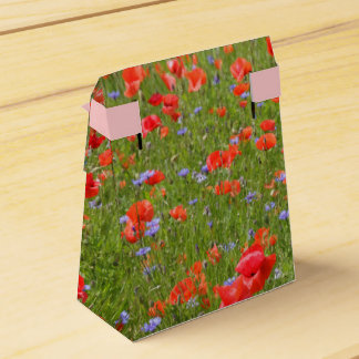 Poppies and Cornflowers Favor Box