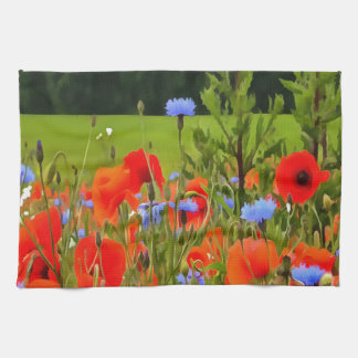 Poppies And Cornflowers Kitchen Towel