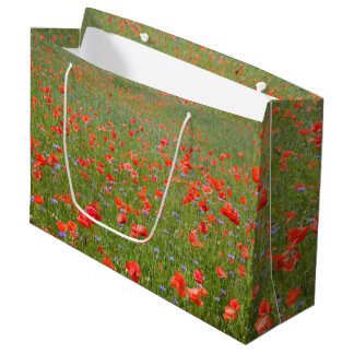 Poppies and Cornflowers Large Gift Bag