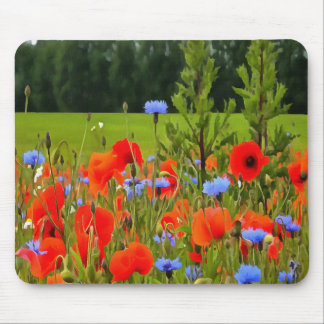 Poppies And Cornflowers Mouse Pad