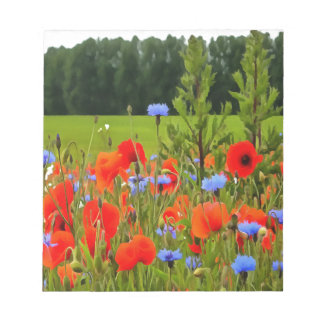 Poppies And Cornflowers Notepads