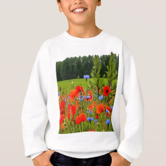 Poppies And Cornflowers Sweatshirt