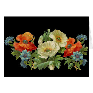 Poppies and Cornflowers Vintage Blank Art Cards
