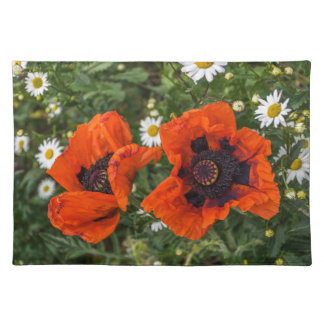 Poppies and daisies placemat