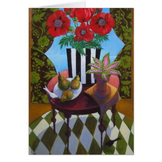 Poppies and Pears Card