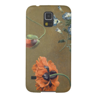 Poppies and Tradascanthus (oil on canvas) Galaxy S5 Covers