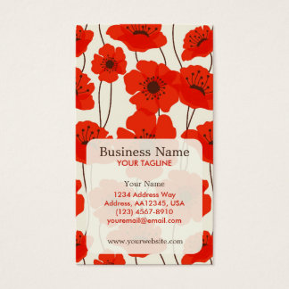 Poppies Appointment Business Card