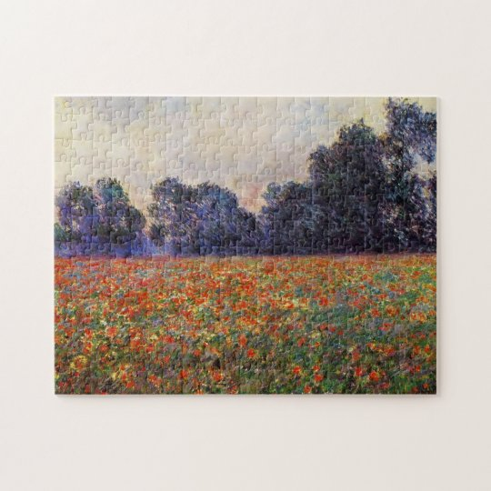 Poppies at Giverny Monet Fine Art Jigsaw Puzzle