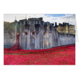 Poppies at the Tower Card