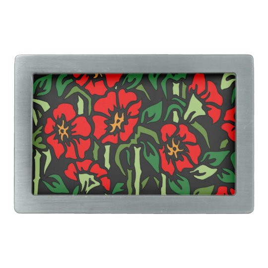 Poppies Belt Buckle