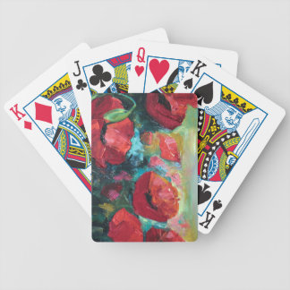 Poppies Bicycle Playing Cards
