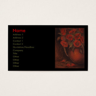 poppies business card