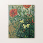 Poppies & Butterflies Van Gogh Fine Art Jigsaw Puzzle