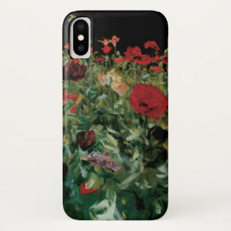 Poppies by Sargent, Vintage Flowers Floral Art iPhone X Case