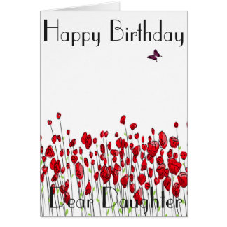 POPPIES DAUGHTER GREETING CARD