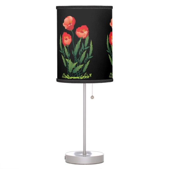 Poppies Design Table Lamp Shade