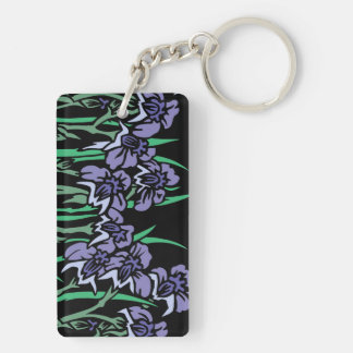 Poppies Double-Sided Rectangular Acrylic Keychain