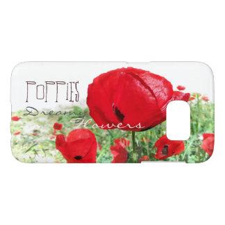Poppies Dreamy Flowers Samsung Galaxy S7 Case