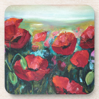 Poppies Drink Coaster