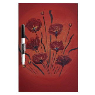 poppies dry erase board