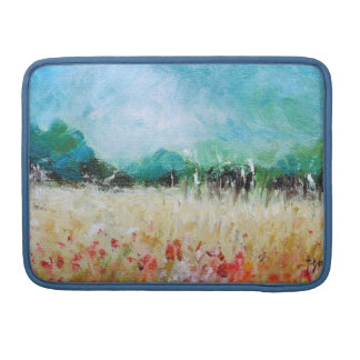 Poppies in a Cornfield Macbook  Sleeve