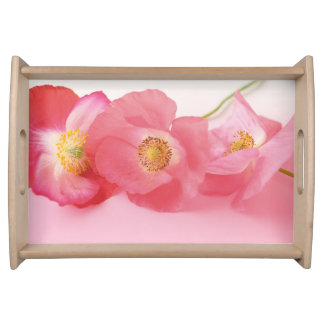 Poppies in a row serving tray