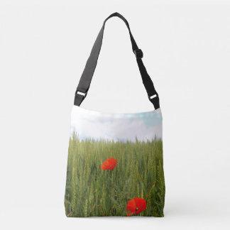 Poppies in a Wheat Field Cross Body Bag