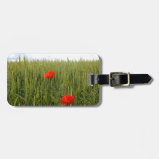 Poppies in a Wheat Field Luggage Tag