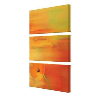 Poppies in bloom -abstract canvas print