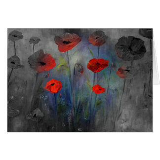 Poppies in Fog Card