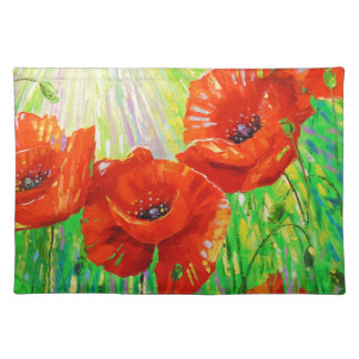 Poppies in sunlight placemat