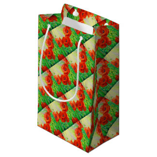Poppies in sunlight small gift bag