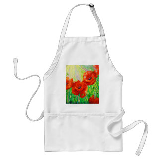 Poppies in sunlight standard apron