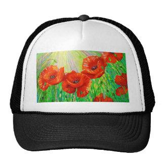 Poppies in sunlight trucker hat