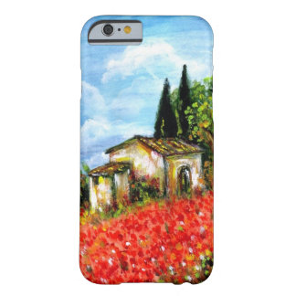POPPIES IN TUSCANY / Landscape with Flower Fields Barely There iPhone 6 Case