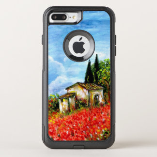 POPPIES IN TUSCANY / Landscape with Flower Fields OtterBox Commuter iPhone 7 Plus Case