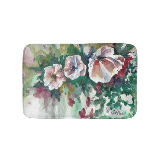 Poppies in Watercolor Bath Mat
