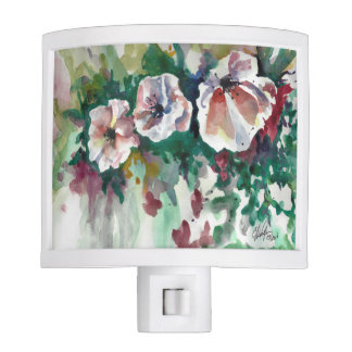 Poppies in Watercolor Night Light